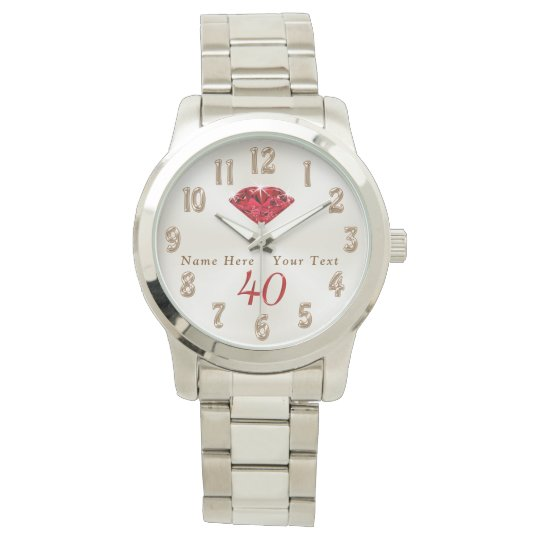 40th Wedding Anniversary Gifts for Wife or Husband Watches