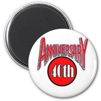 40th Wedding Anniversary Gifts Magnets