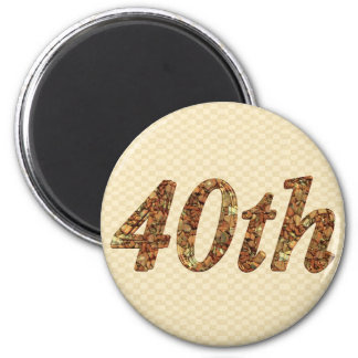 40th Wedding Anniversary Gifts Magnet