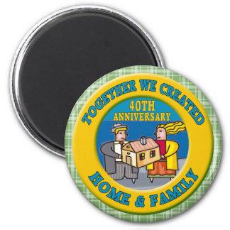 40th Wedding Anniversary Gifts Refrigerator Magnets