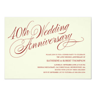 40th wedding anniversary invitations announcements for 40th wedding anniversary invitations
