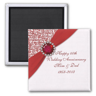 40th Wedding Anniversary Magnet Refrigerator Magnets