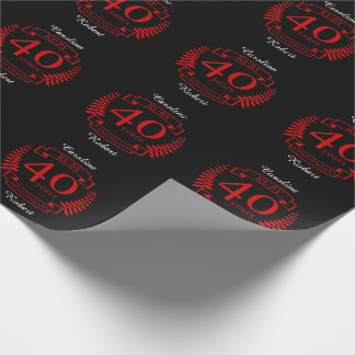 40th Wedding ANNIVERSARY RUBY Wrapping Paper