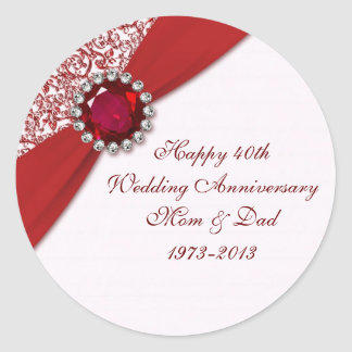 40th Wedding Anniversary Sticker
