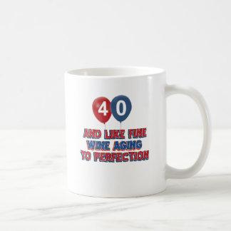 40th year old birthday designs coffee mug