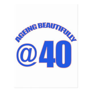 40TH year old designs Postcard