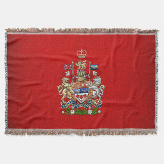 [410] Canada Coat of Arms [3D] Throw Blanket