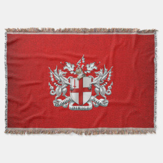 [410] City of London - Coat of Arms Throw Blanket