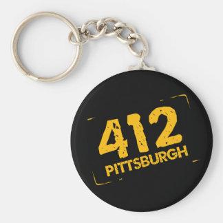 412 Pittsburgh Keychain