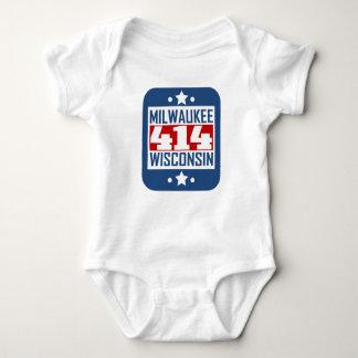 414 Milwaukee WI Area Code Baby Bodysuit