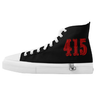 415 Area Code Chuck Style High Tops
