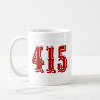 415 Area Code Coffee Mug
