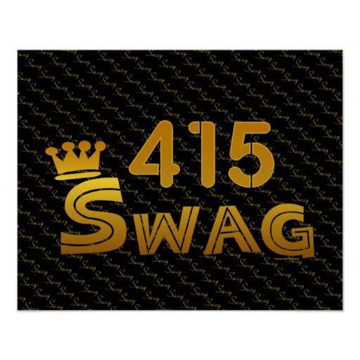 415 Area Code Swag Print