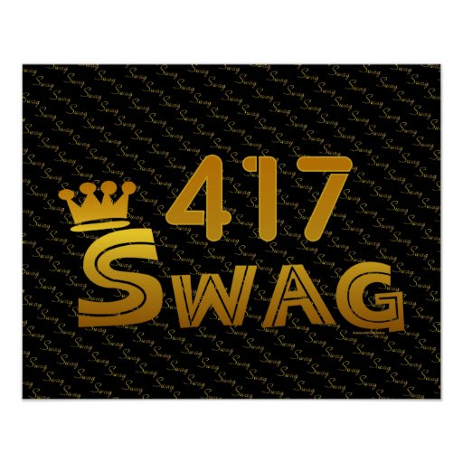 417 Area Code Swag Posters