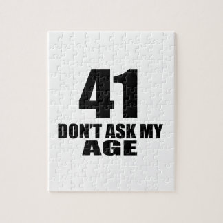 41 Do Not Ask My Age Birthday Designs Jigsaw Puzzle