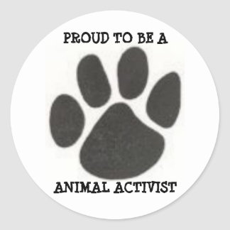 4233078725, PROUD TO BE A , ANIMAL ACTIVIST ROUND STICKER