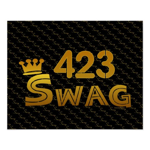 423 Area Code Swag Posters