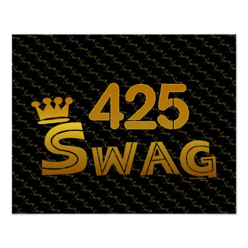 425 Area Code Swag Poster