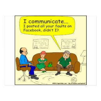 426 I communicate Cartoon Postcard