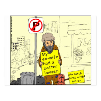427 ex wife better lawyer Cartoon Postcard