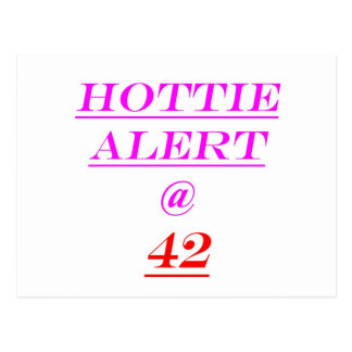 42 Hottie Alert Postcard