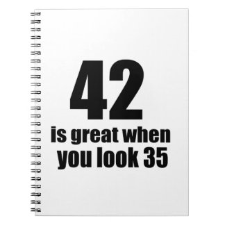 42 Is Great When You Look Birthday Notebook