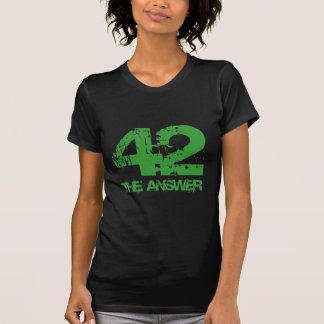 42 Is The Answer Dark Ladies T-Shirt