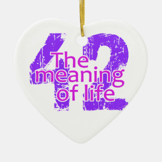 42 Meaning of Life ornament, customizable Ceramic Ornament