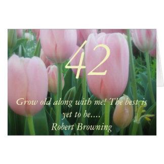 42nd birthday card