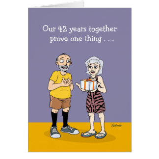 42nd Wedding Anniversary Love Card