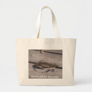 433571791111.1, Watch out for the crabs.. Large Tote Bag
