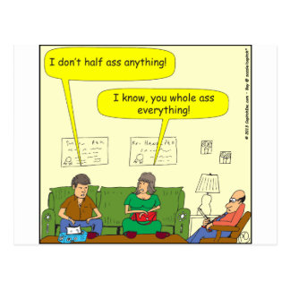 433 half/whole-ass Cartoon Postcard