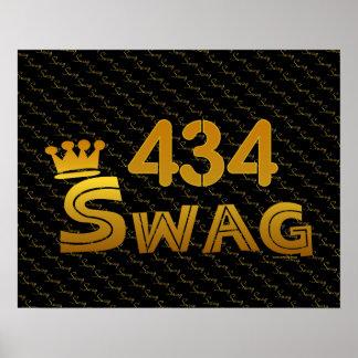 434 Area Code Swag Print