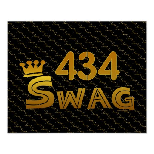 434 Area Code Swag Print