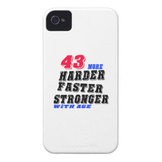43 More Harder Faster Stronger With Age iPhone 4 Case-Mate Case