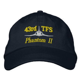 43rd TFS F-4 Golf Hat Embroidered Hats