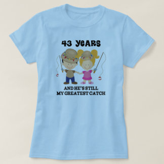 43rd Wedding Anniversary Gift For Her T-Shirt