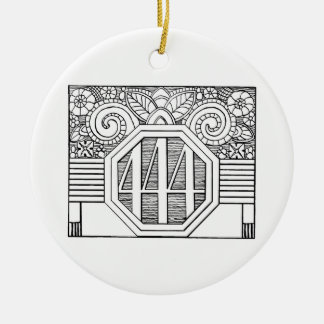 444 logo ornament