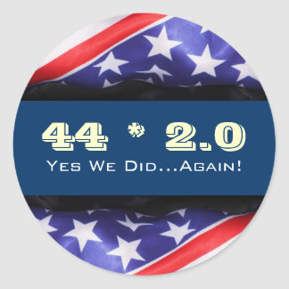 44 2.0 OBAMA Yes We Did Again Sticker