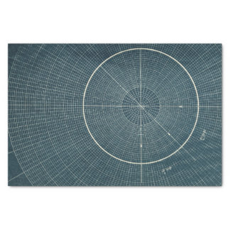 44.4 Degrees - Vintage Chart Tissue Paper