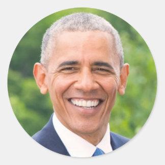 44 Barack Hussein Obama Classic Round Sticker