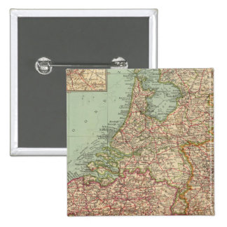 44 Belgium and Holland 2 Inch Square Button