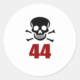 44 Birthday Designs Classic Round Sticker