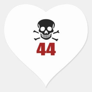 44 Birthday Designs Heart Sticker