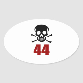 44 Birthday Designs Oval Sticker