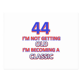 44 birthday designs postcard
