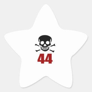 44 Birthday Designs Star Sticker
