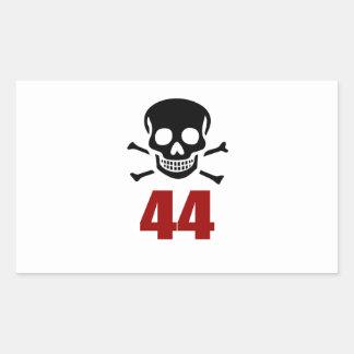 44 Birthday Designs Sticker