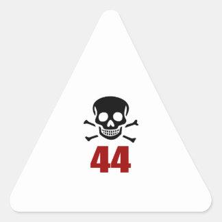 44 Birthday Designs Triangle Sticker