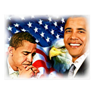 44th & 45th President Barack Obama_ Postcard